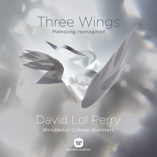 Image of the front cover of the Warner Classics CD 'Three Wings' by David Lol Perry featuring Winchester College's Quiristers